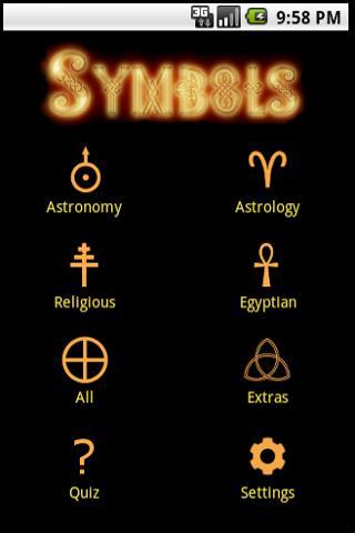 Ancient Symbol Flashcard Quiz- screenshot