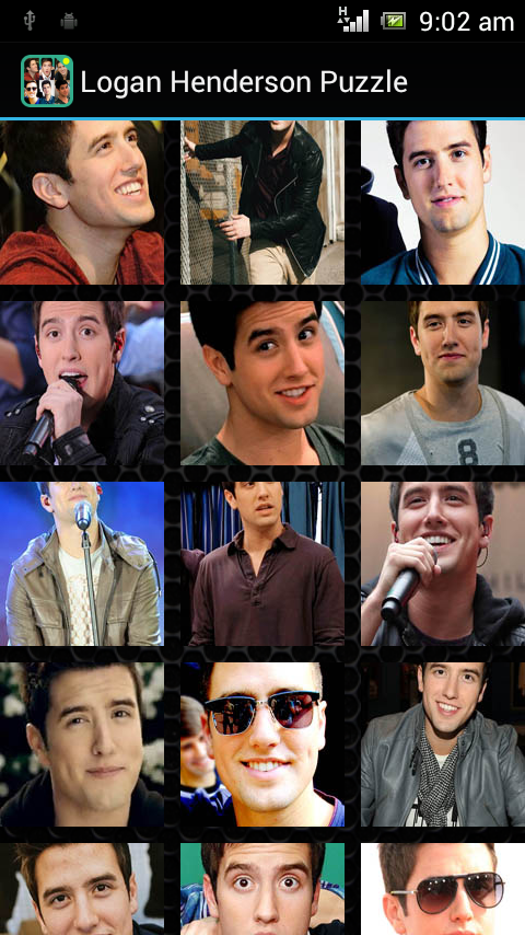 Logan Henderson Puzzle Game - screenshot