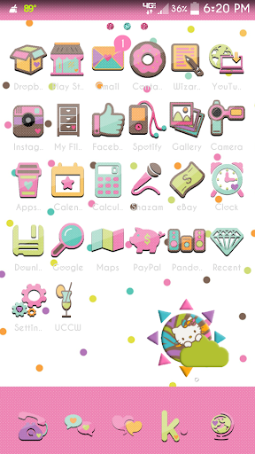 Stuck On Cute Go Launcher
