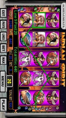 Indian Spirit Slot Machine Screenshot