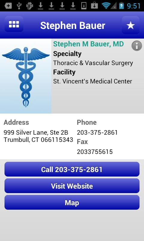 St. Vincent's Medical Center - screenshot