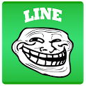 RageTrollFace Sticker for LINE icon