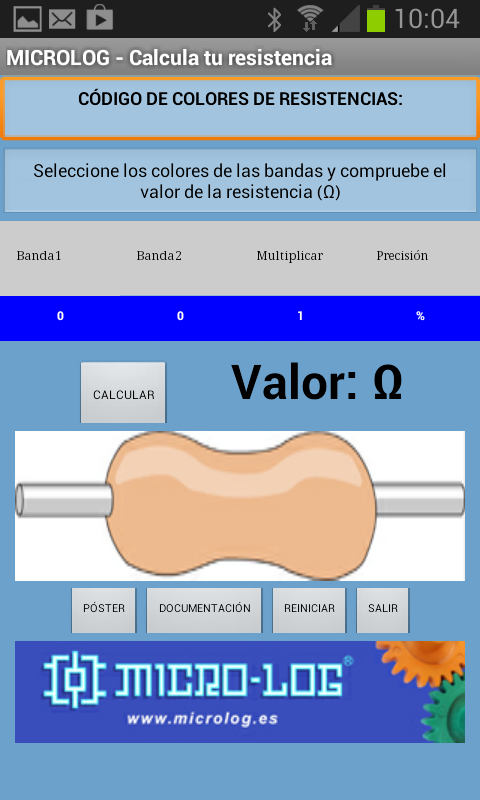 Colores de Resistencias - screenshot