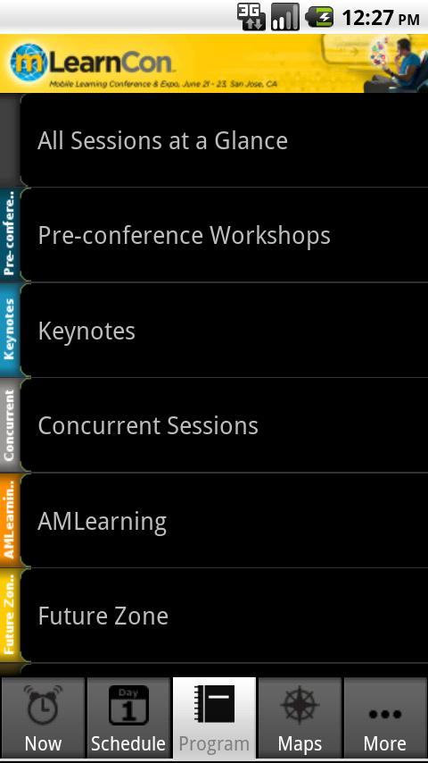 mLearnCon 2011 - screenshot