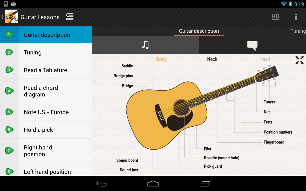 Guitar Lessons Beginners - screenshot