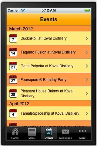 ChicagoBuffets/Culinary Events- screenshot
