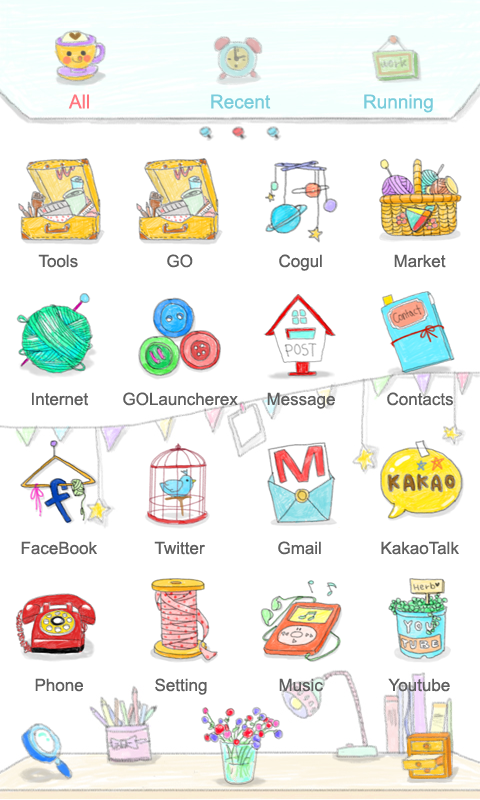 Atelier - GO Launcher Theme - screenshot