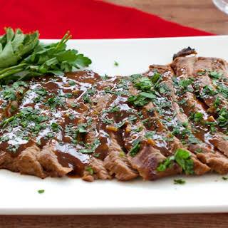 Marinated Flank Steak Dinner.