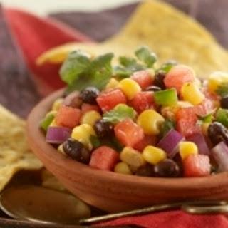 Watermelon, Black Bean and Corn Salsa.