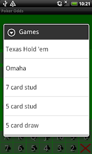 Card player poker odds app