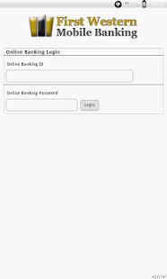 First Western Mobile  Banking - screenshot thumbnail