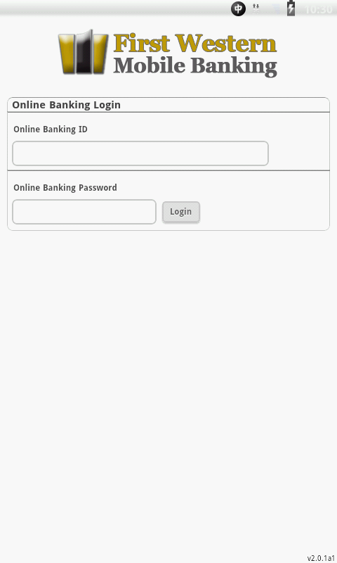 First Western Mobile Banking - screenshot