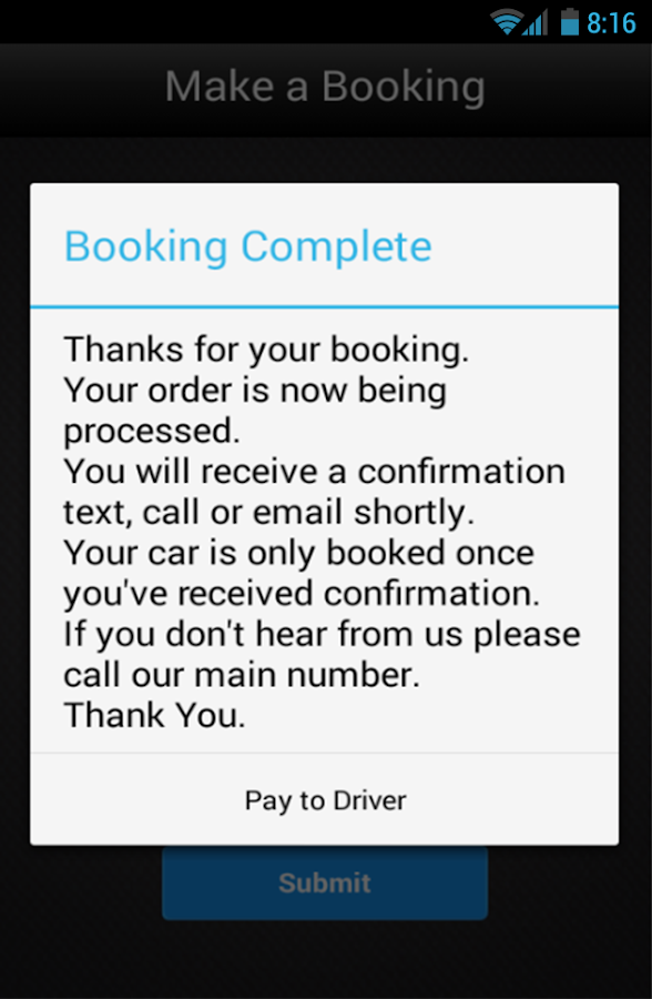 Gerry's Aviemore Taxi- screenshot