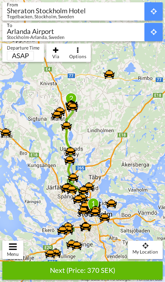 Taxijakt- screenshot