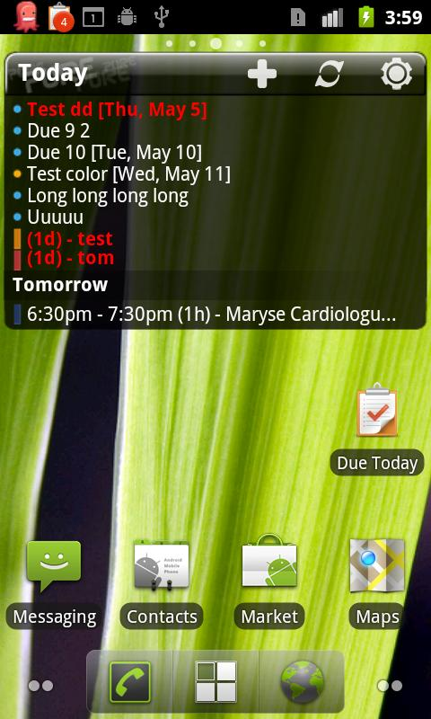 Pure Calendar widget (agenda) - screenshot