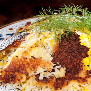Chelo (Persian Rice Pilaf with a Crispy Crust).