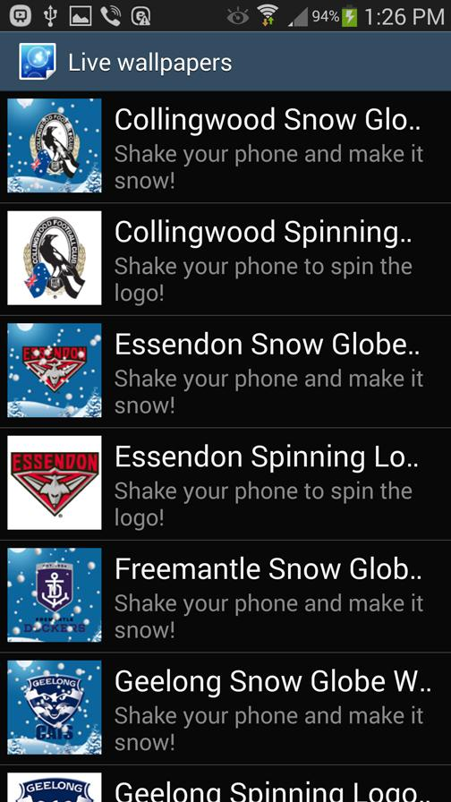 Collingwood Snow Globe- screenshot