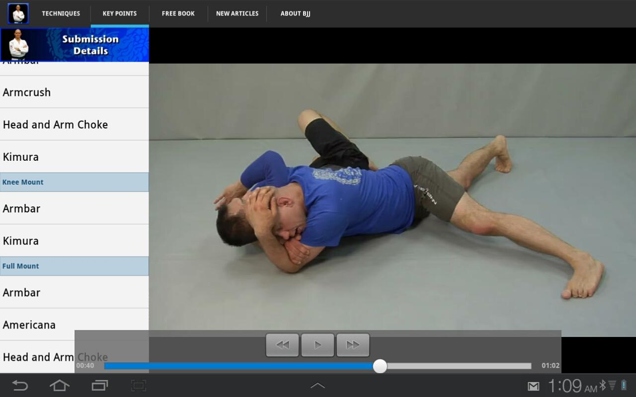 Submissions for BJJ & MMA- screenshot