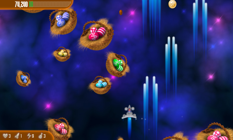 Chicken Invaders 3 Easter HD- screenshot