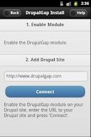 Screenshot of DrupalGap