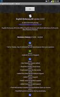 Screenshot of Offline English Dictionary AD