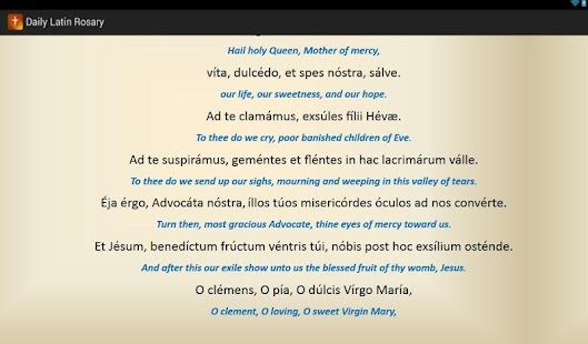 Daily Latin Rosary- screenshot thumbnail