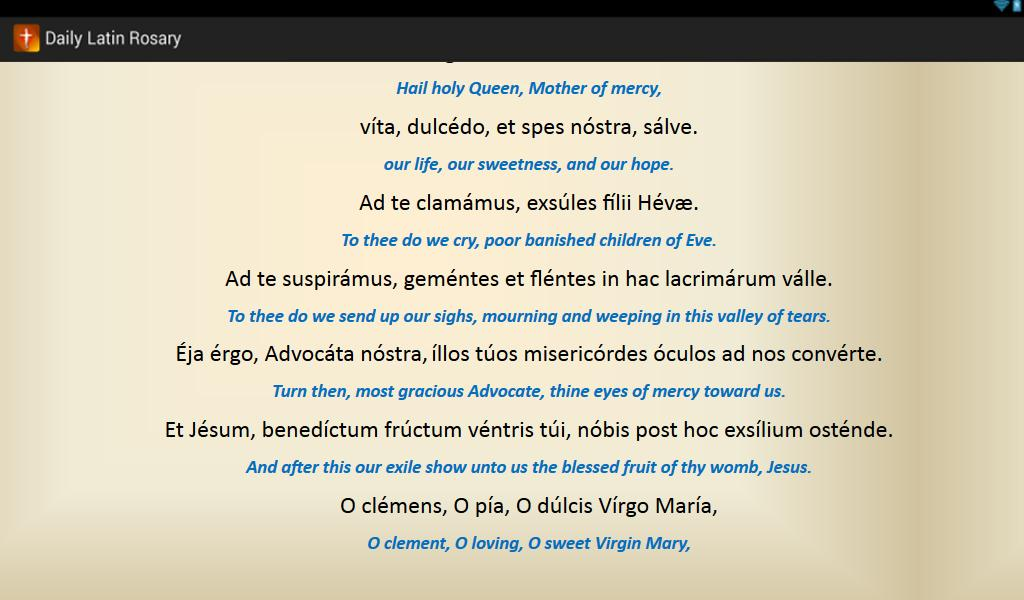Daily Latin Rosary- screenshot