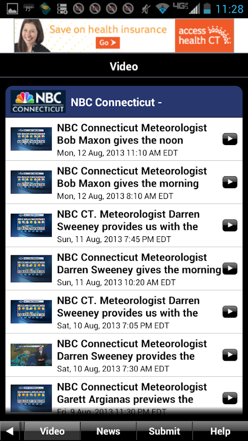 NBC Connecticut Weather - screenshot