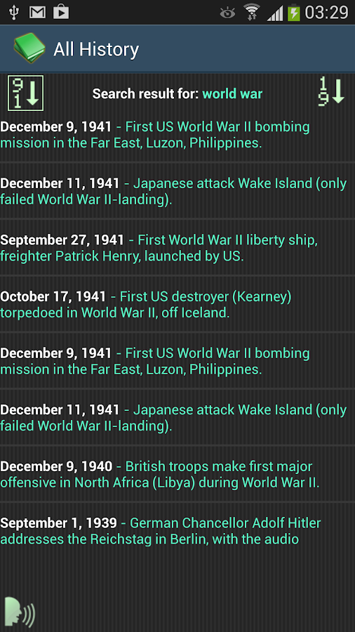 This Day In History - screenshot