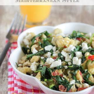 Green Eggs and Ham Scramble Mediterranean Style