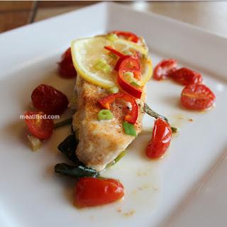 Baked Halibut with Lemon & Thai Chili