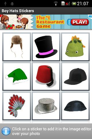 Boy Hats Stickers- screenshot