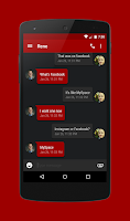 Screenshot of EvolveSMS Theme Stealth Red