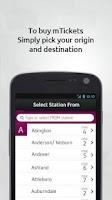 Screenshot of MBTA mTicket