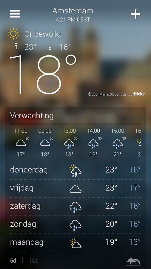 Yahoo Weer: screenshot
