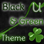 GO Launcher Theme Black Green