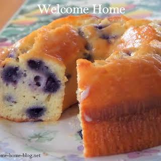 Blueberry Lemon Pound Cake.