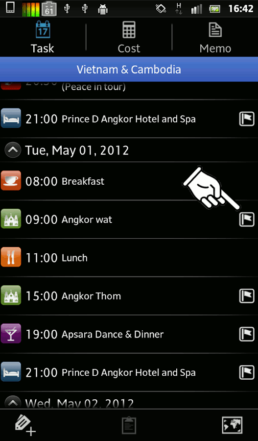 Trip Planner Lite - screenshot