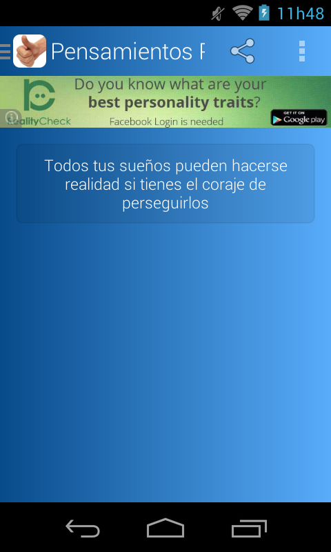 Pensamientos Positivos - screenshot