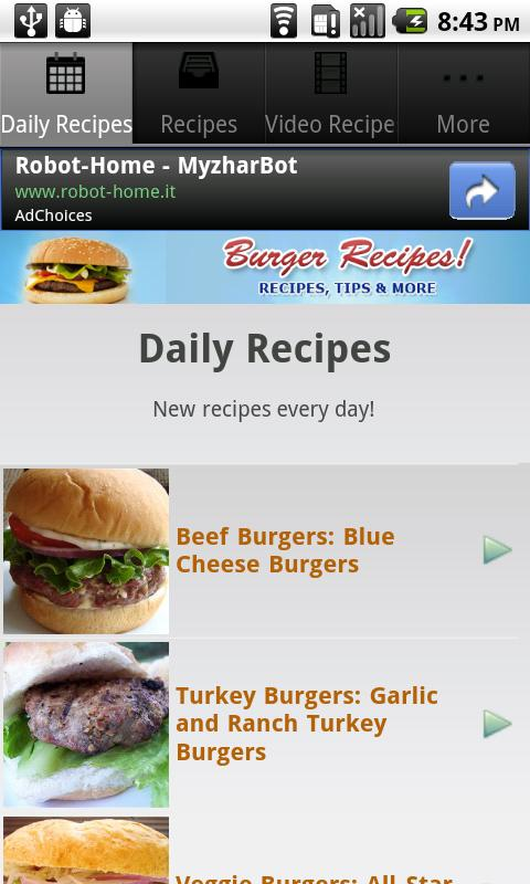 Burger Recipes! - screenshot