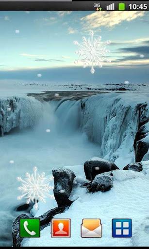 Winter Waterfall livewallpaper