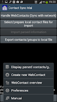 Screenshot of ContactSync - CardDAV and more