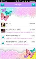Screenshot of GO SMS - Pastel Glitter Sky