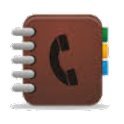 Large phonebook icon