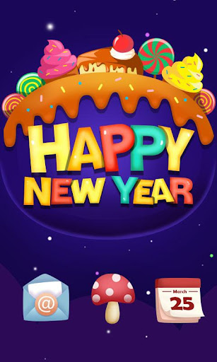 Sweet New Year Launcher Theme