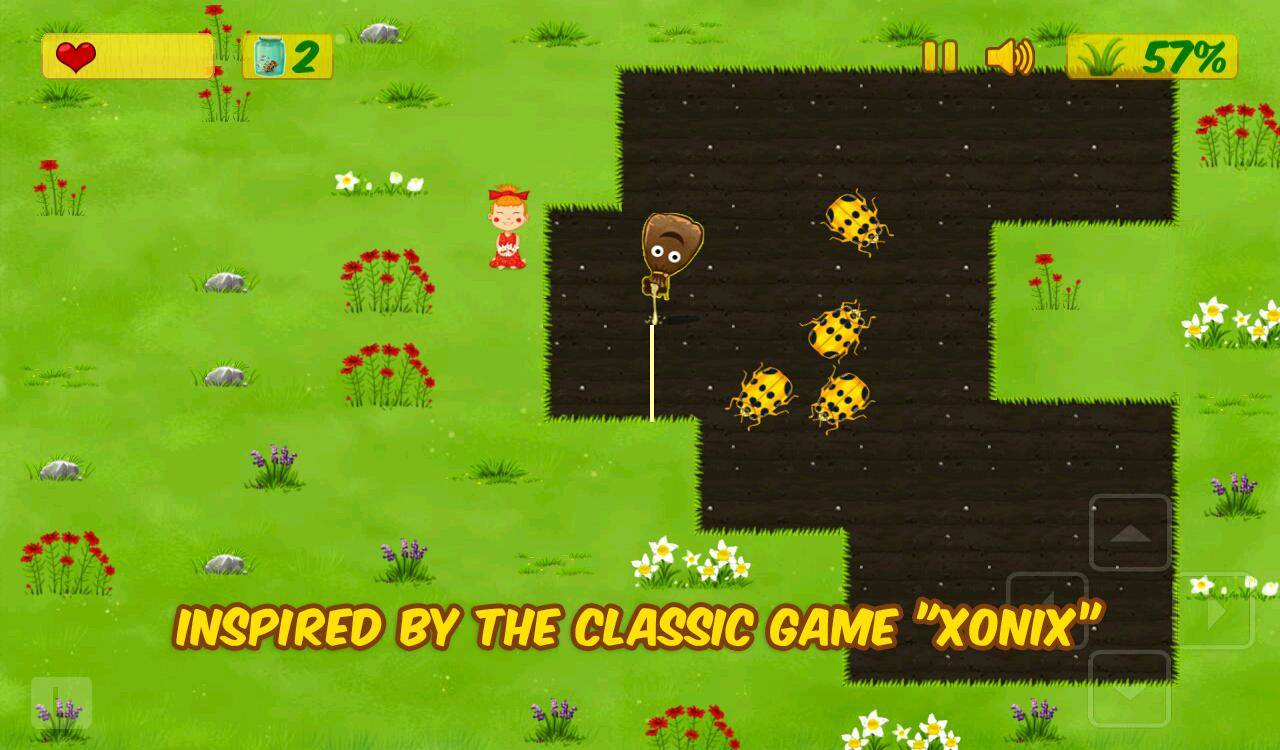 Kids Xonix Game- screenshot
