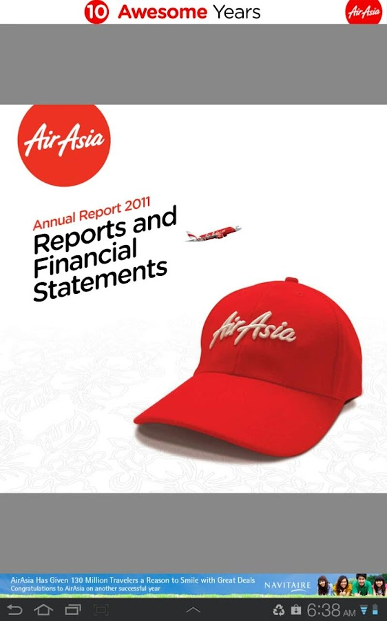 """airasia annual report Airasia to switch medium-haul routes to airasia x airasia group chief executive officer tony fernandes has confirmed  the annual report, themed """"realising."""