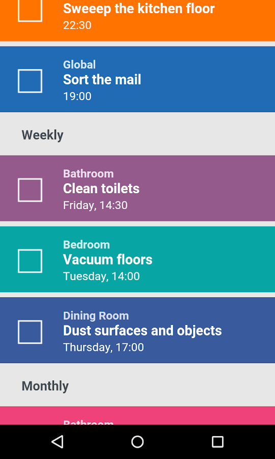 house cleaning organizer