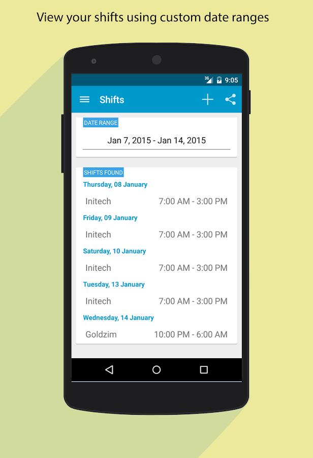 Work Mate - Shift Tracker - screenshot