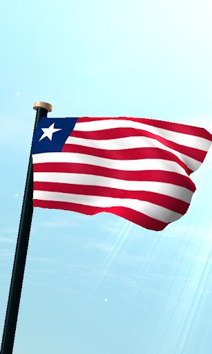 Liberia Flag 3D Free Wallpaper